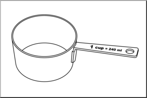 1 clipart measuring cup.
