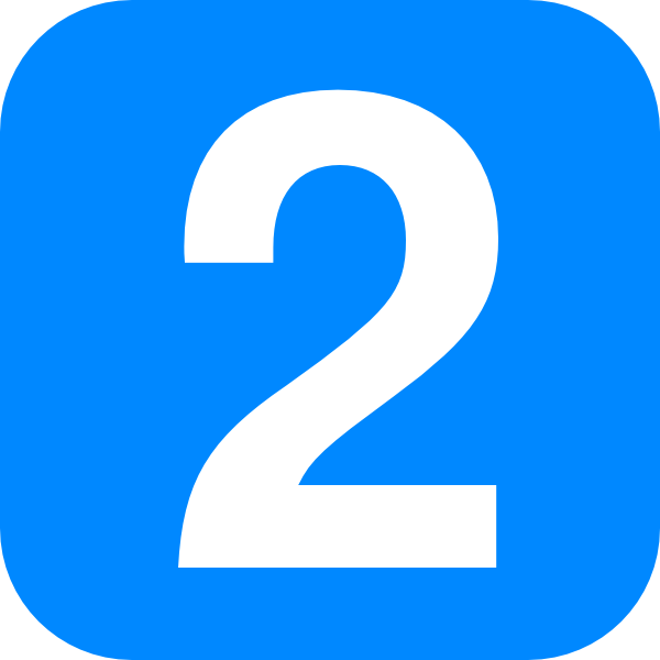2 clipart blue number 2.