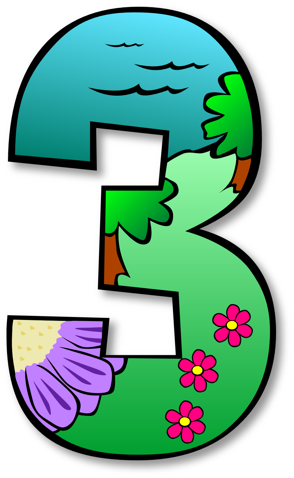 1 clipart numbers.