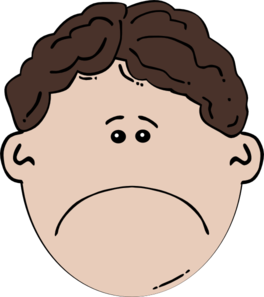 crying clipart sad face