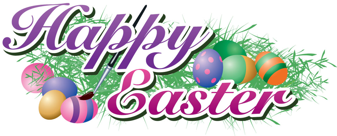 happy easter clipart purple