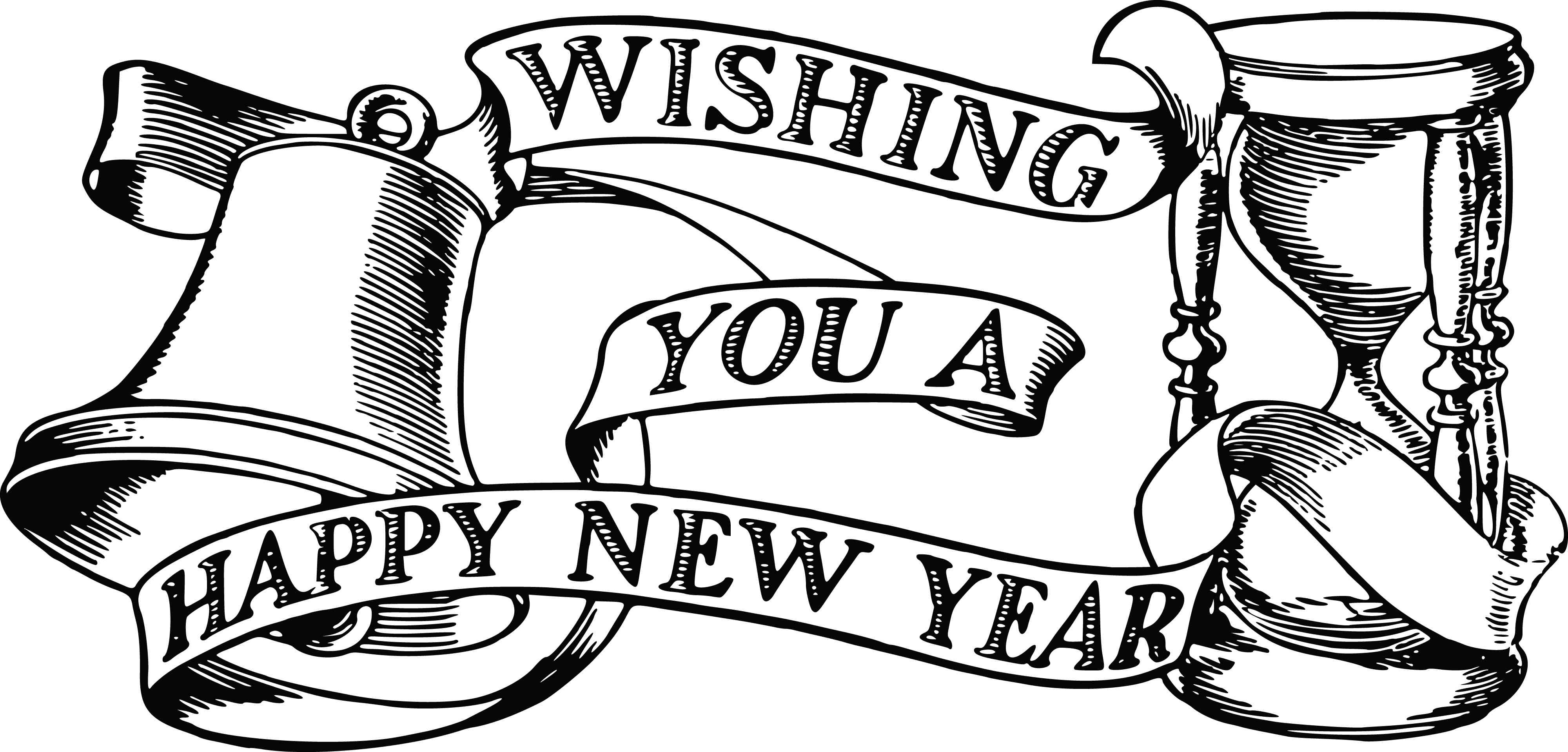 happy new year clipart free mickey mouse
