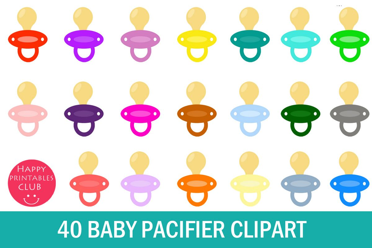 pacifier clipart printable