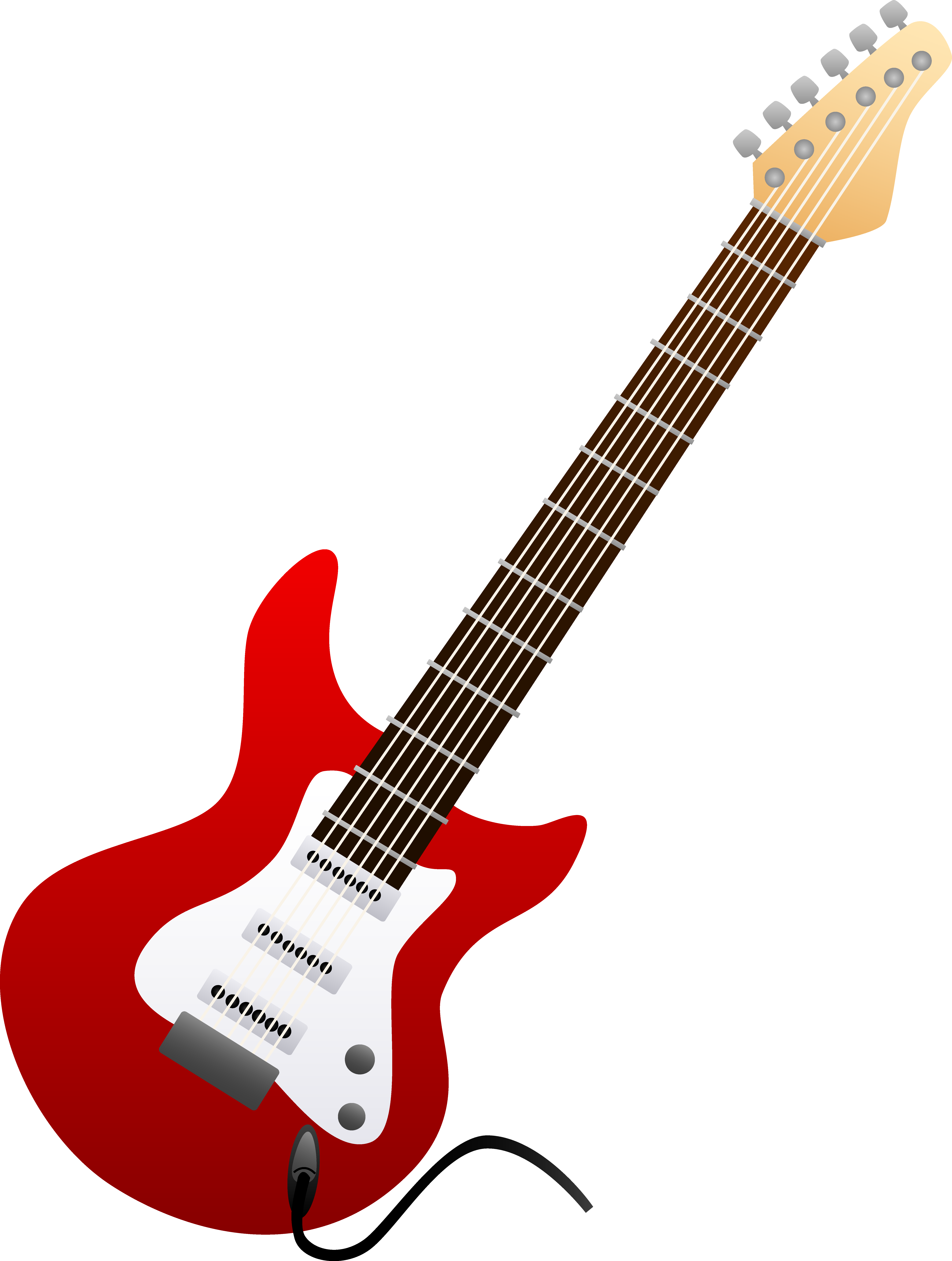 clipart guitar red