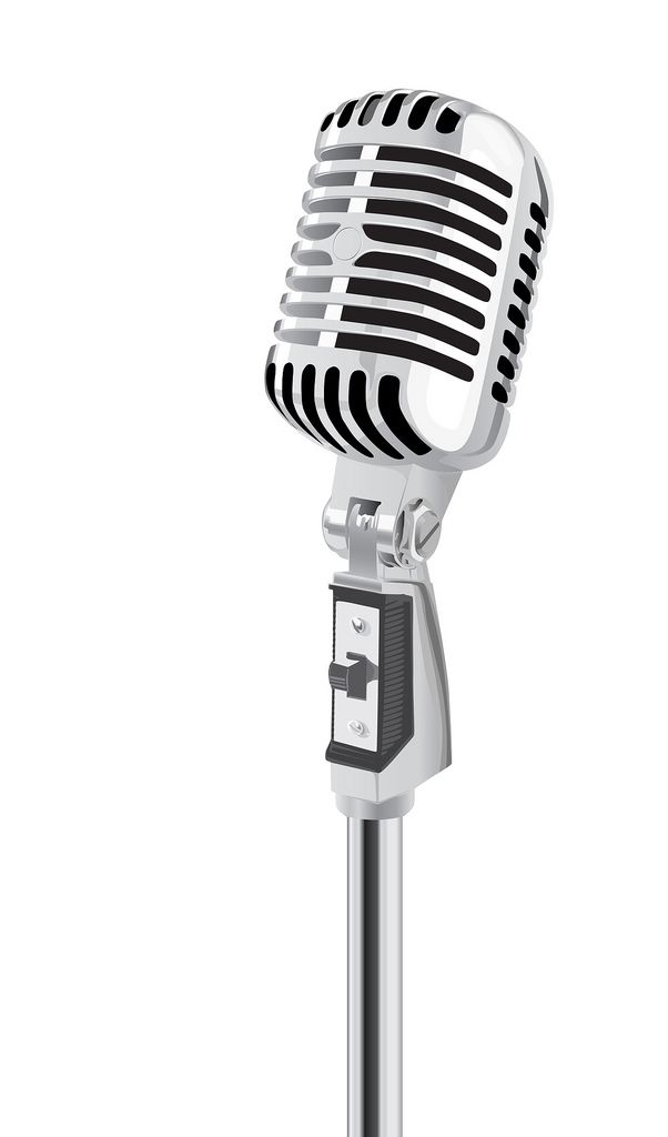 microphone clipart vector