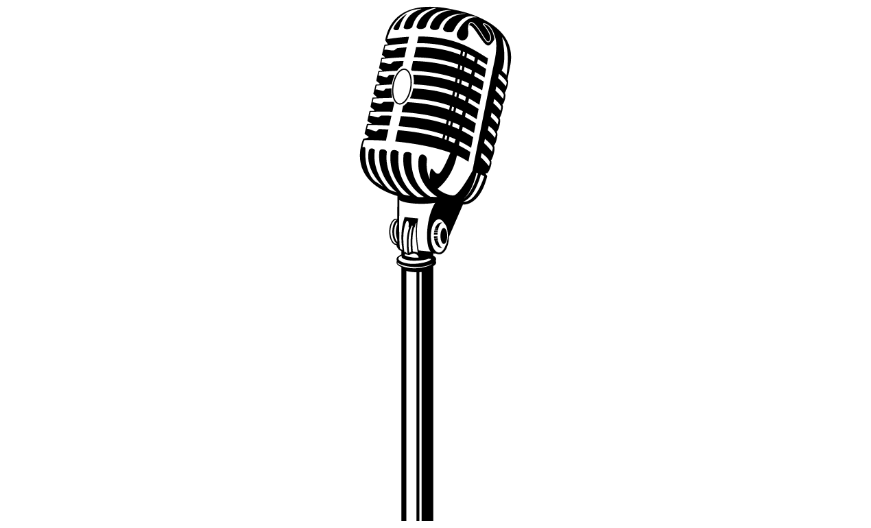 Mic clipart stand up.