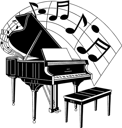 piano clipart drawing