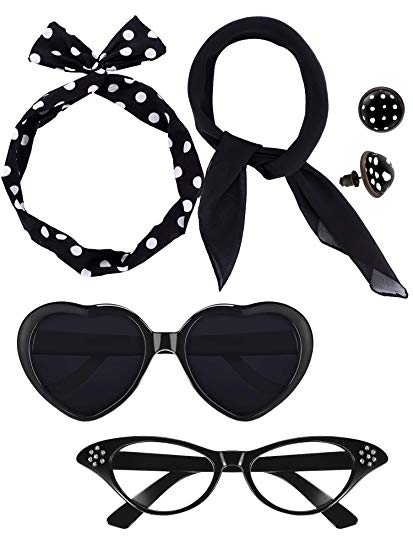 50s clipart star shaped sunglasses.