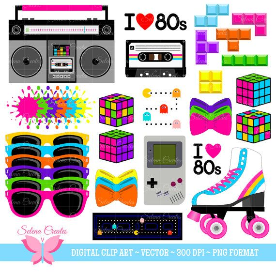 wig clipart 80's