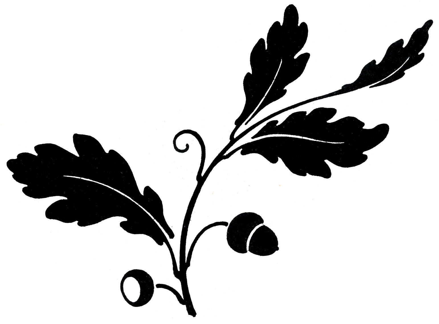 fall leaves clipart silhouette