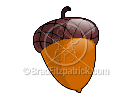 Acorn clip art cartoon.