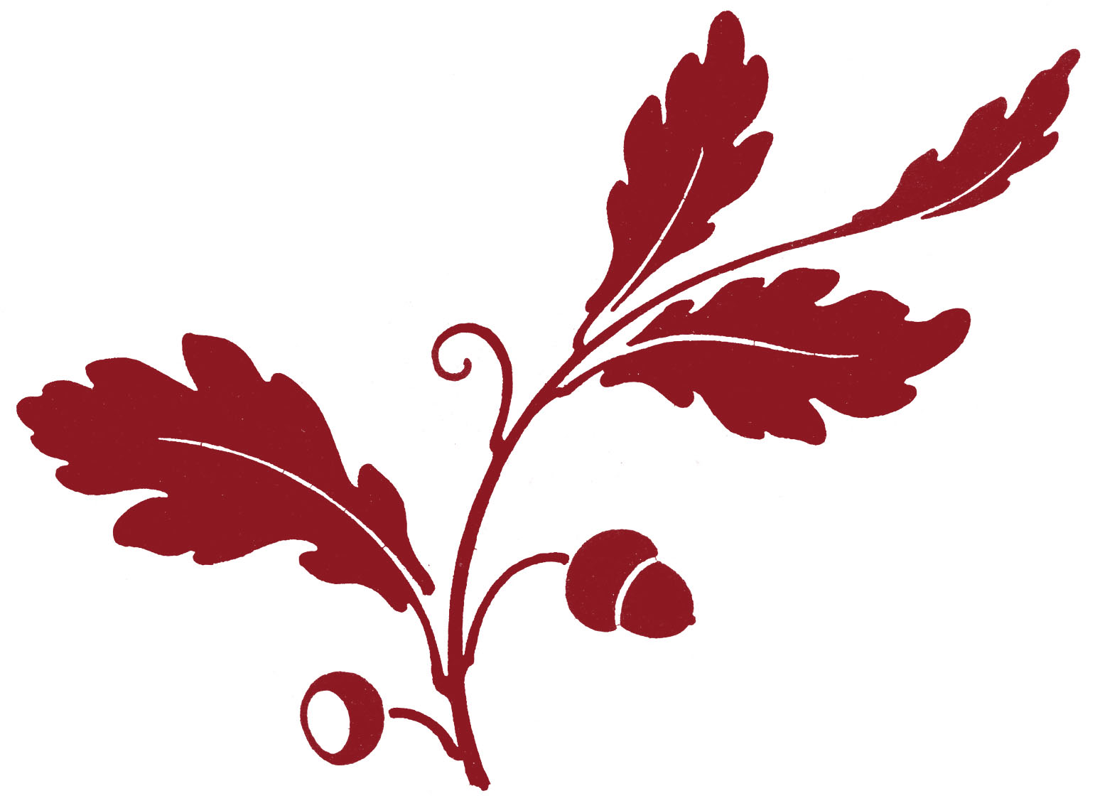 leaf clipart silhouette