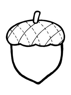 Acorn clip art simple.