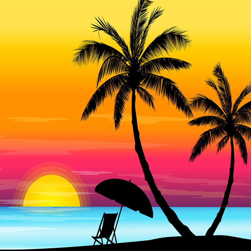 Sunset clipart free.