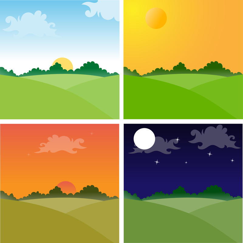 Afternoon clipart sunset drawing.