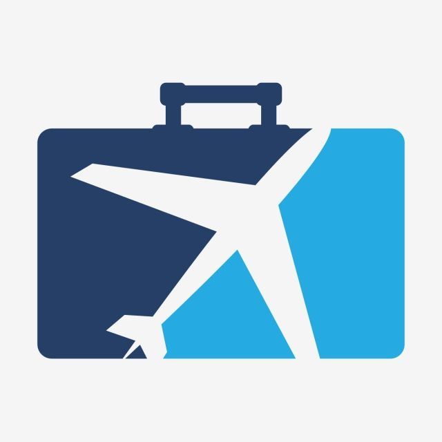Airplane clipart business briefcase.