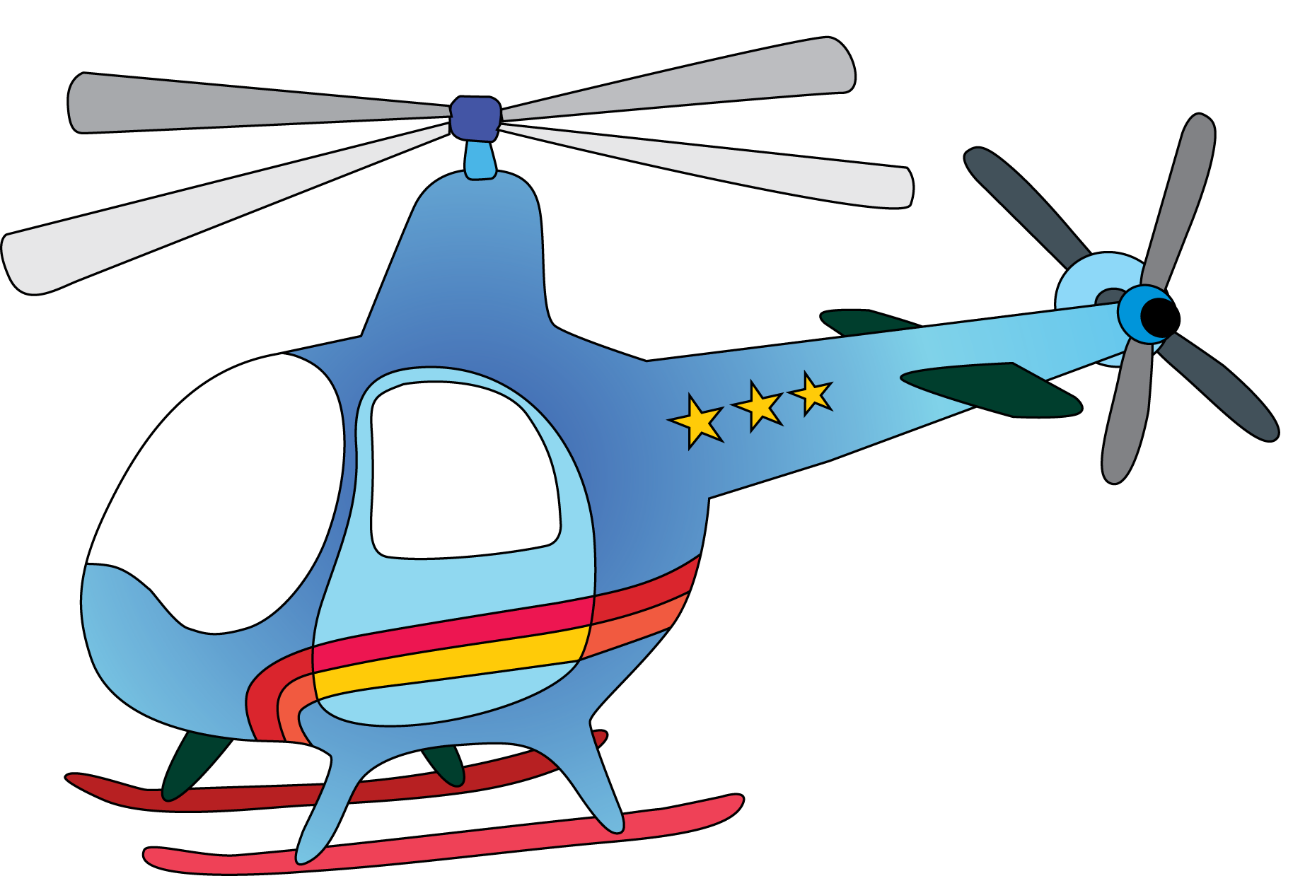 helicopter clipart cartoon