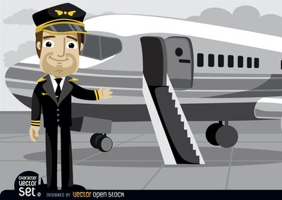 Airplane clipart pilot.