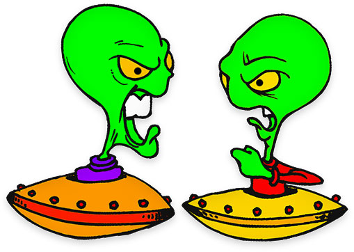 Alien clip art fictional.