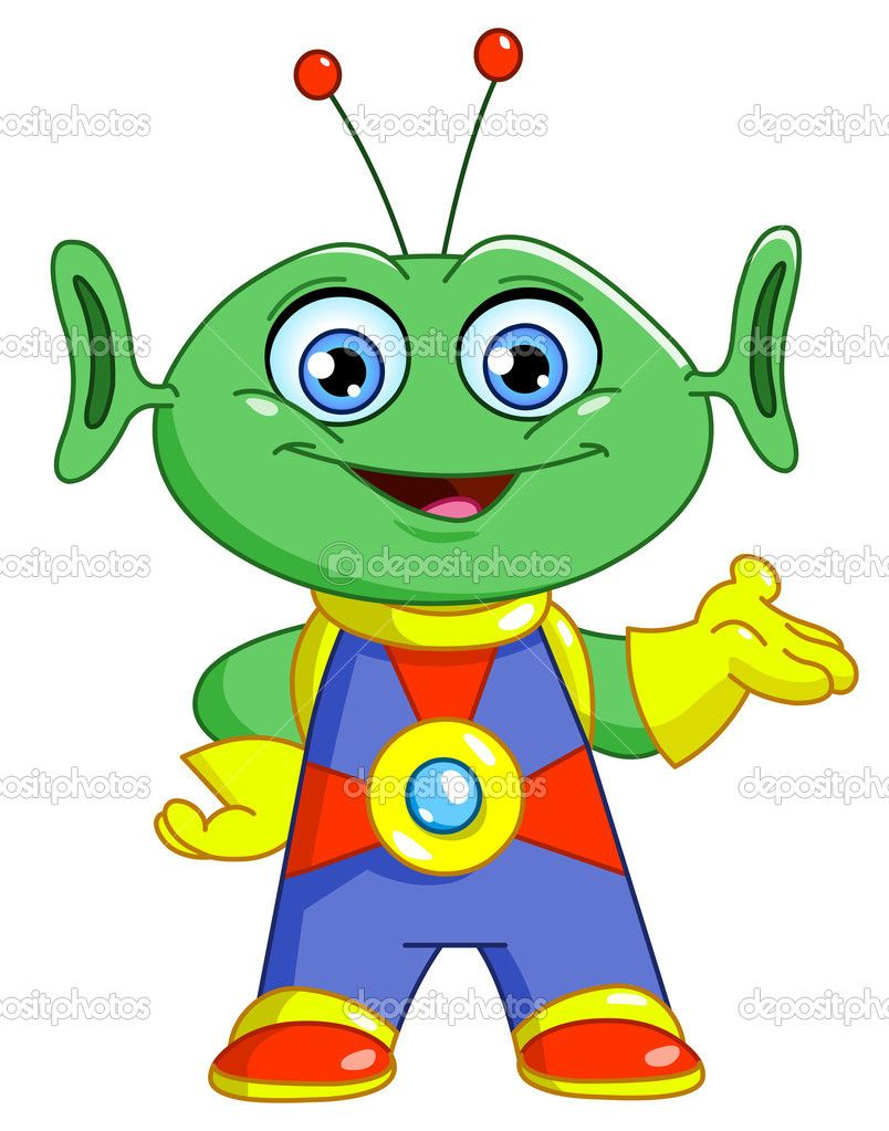 Alien clip art friendly.
