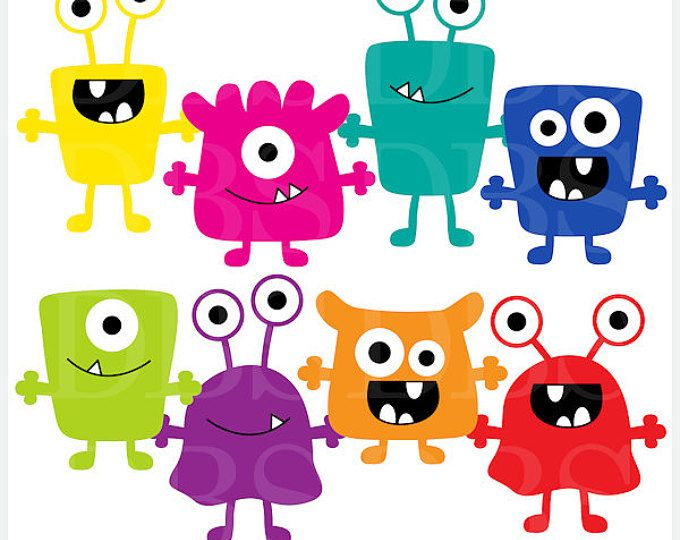oo clipart monster