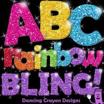 letter a clipart glitter
