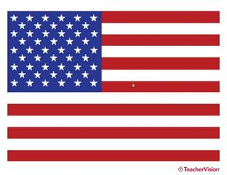 American flag clipart printable.