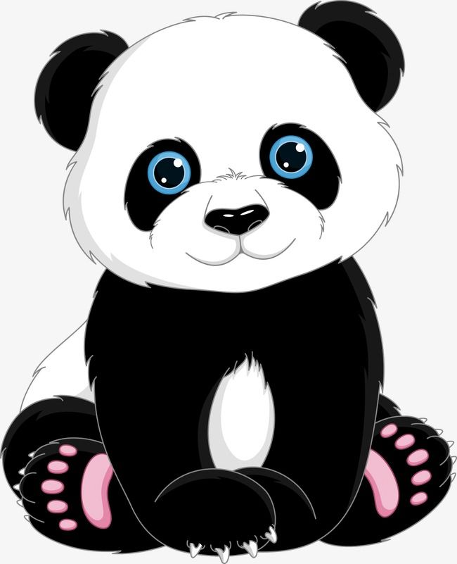 panda clipart transparent