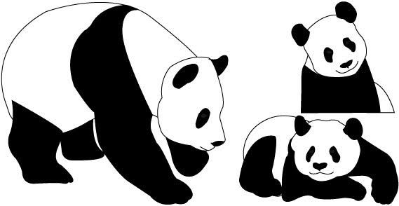 panda clipart drawing