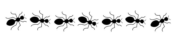 Ant clipart line.