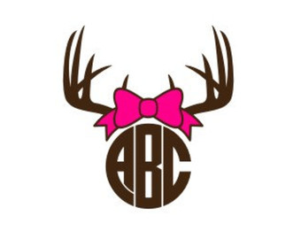Antler clipart bow.