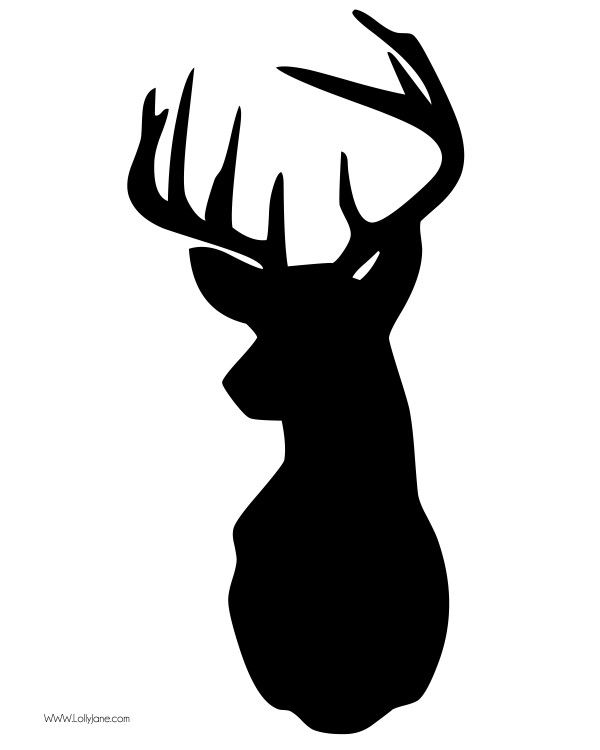 deer head clipart vector
