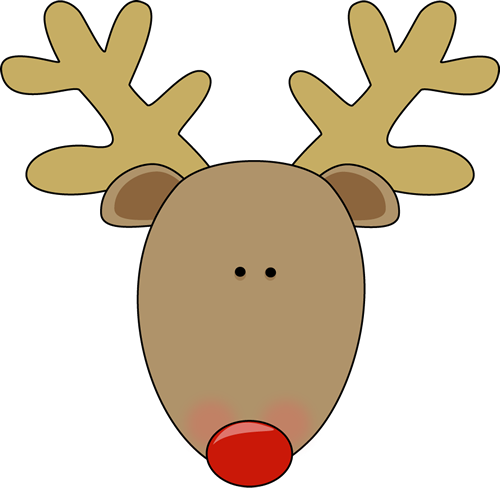 deer head clipart cute