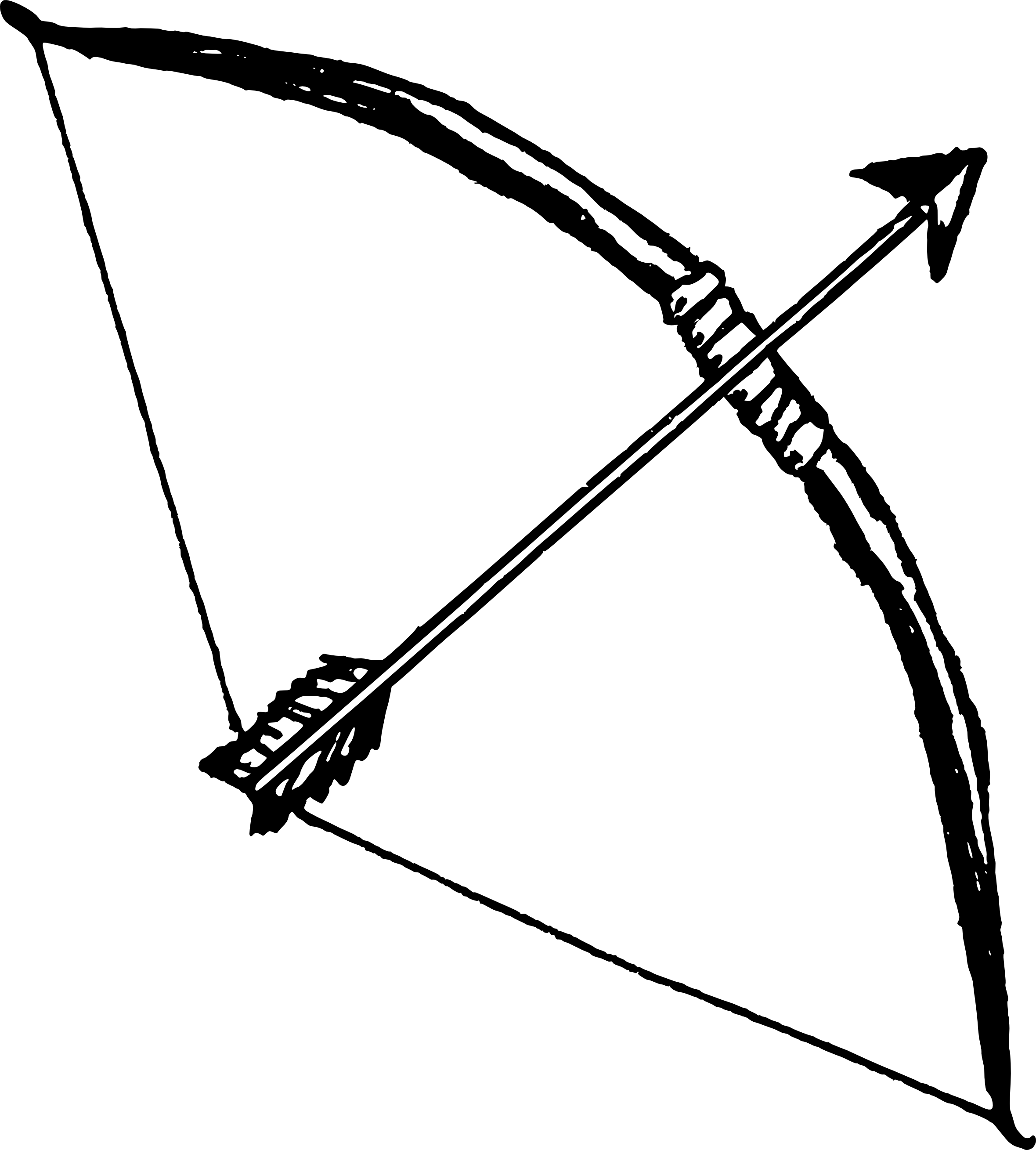 bow and arrow clipart easy