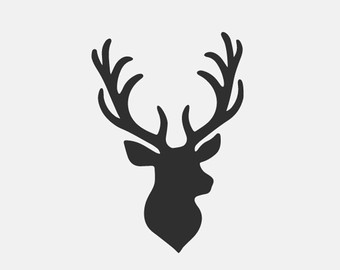 Antler clipart stag head.