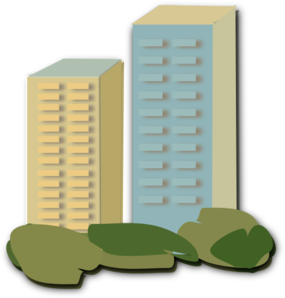 apartment clipart flat roof