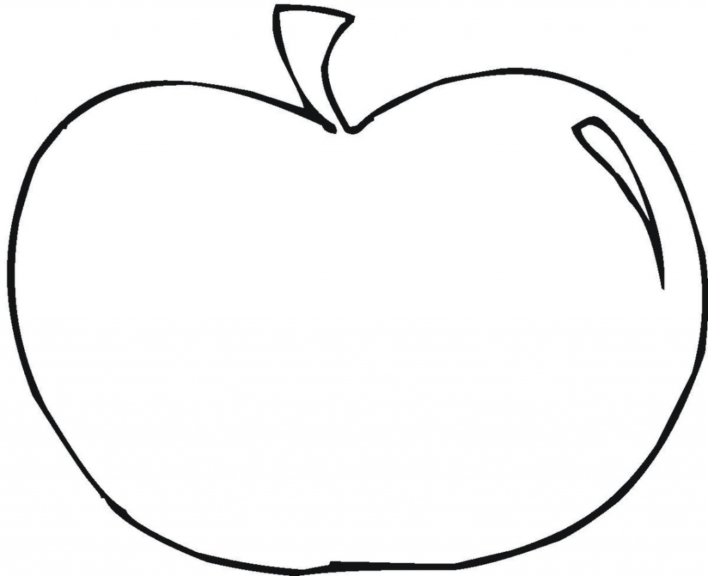 Apple clipart outline.