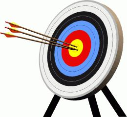 archery clipart target