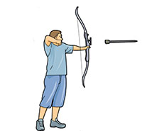 Archery clipart animated.