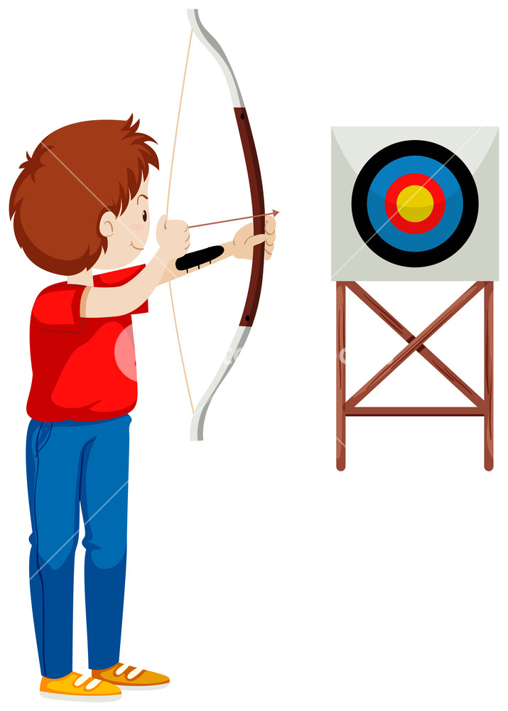 Archery clipart shooting.