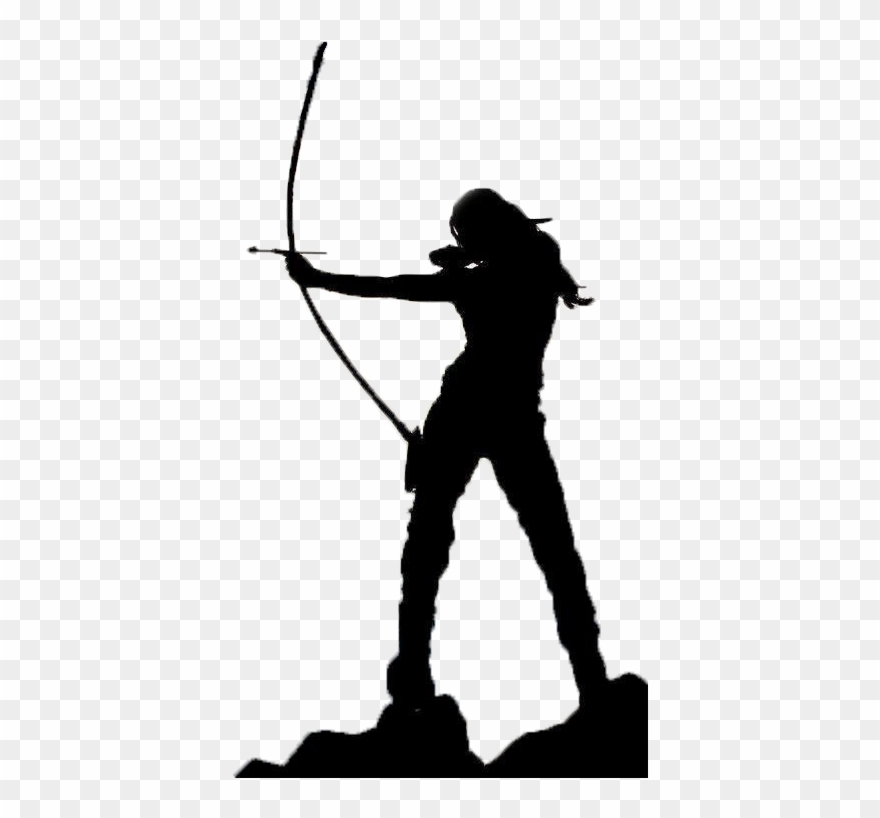 bow and arrow clipart silhouette