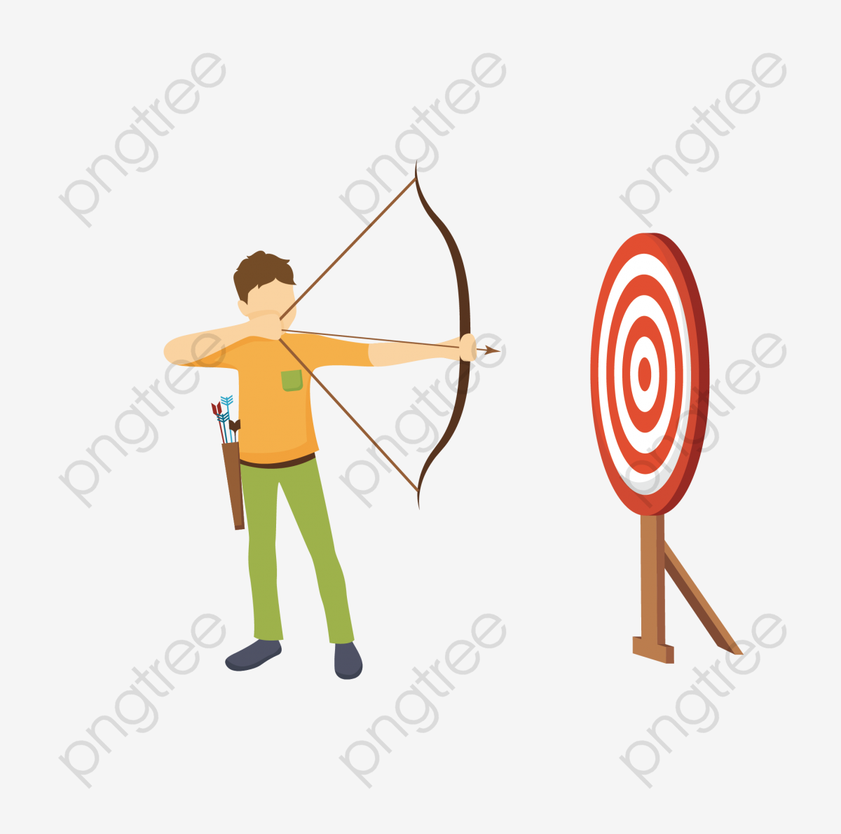 Archery clipart vector. Man png and with