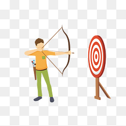 Archery clipart vector. Png psd and with