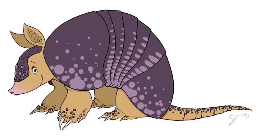 Armadillo clipart angry.