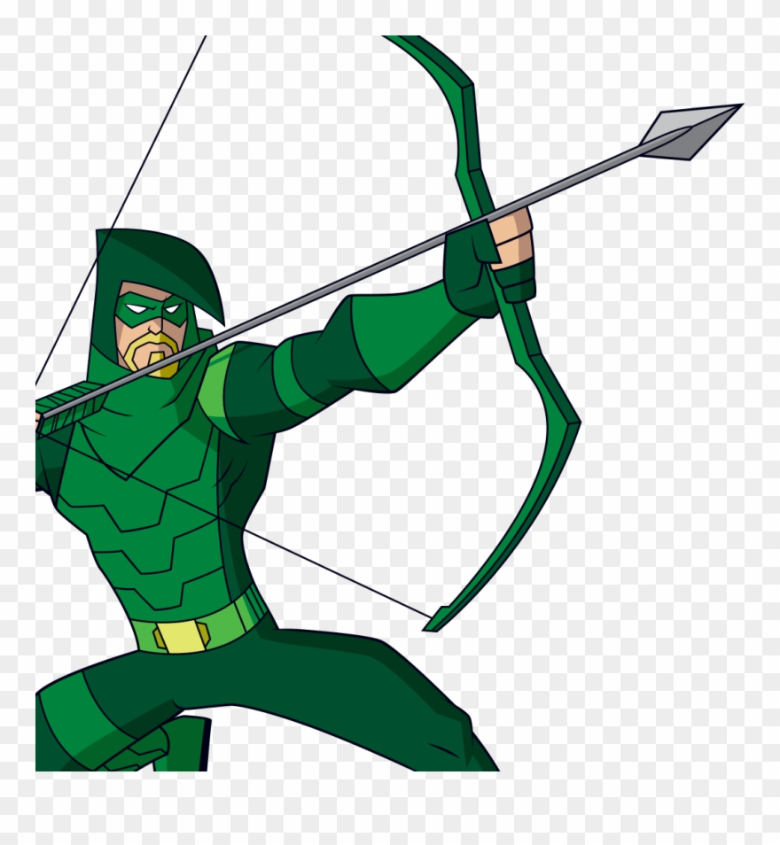 bow and arrow clipart green