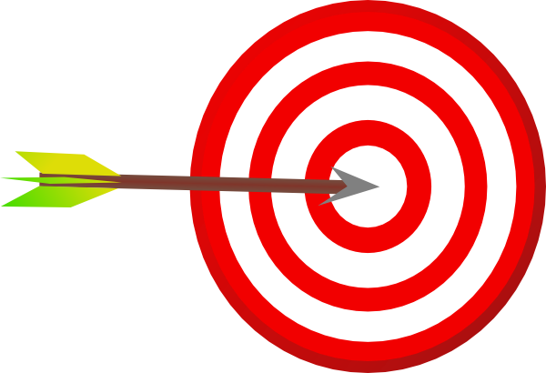 target clipart red