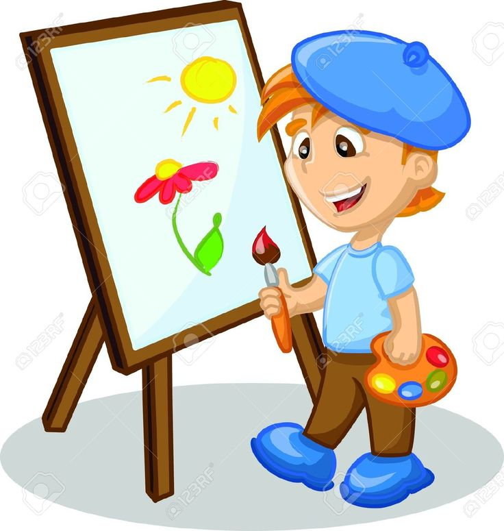 painting clipart cartoon