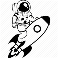 Astronaut clipart easy draw.