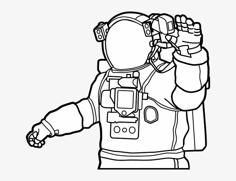 Astronaut clipart moon drawing.