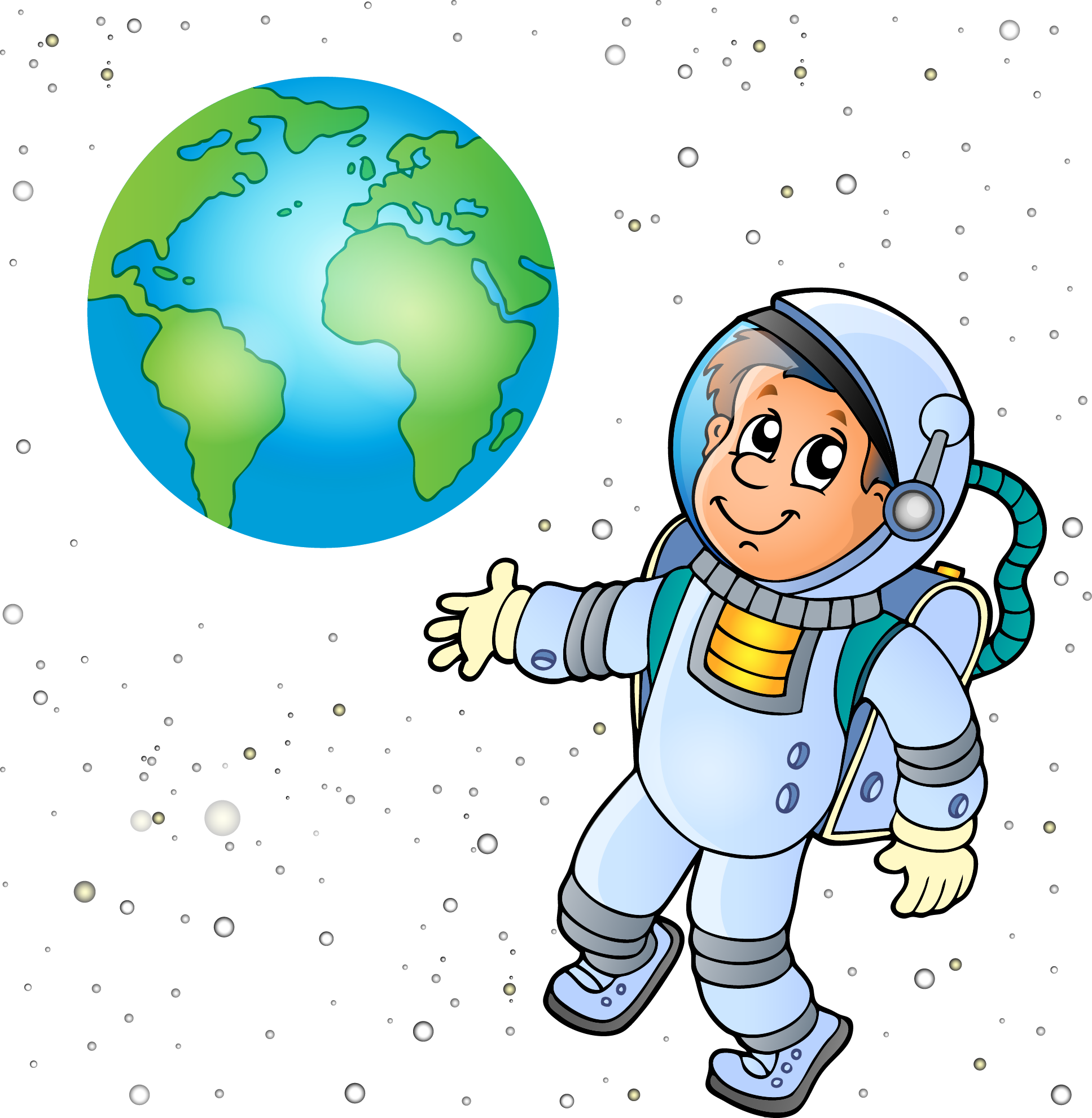 Astronaut clipart space earth.